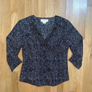 Michael kors lightweight button up blouse